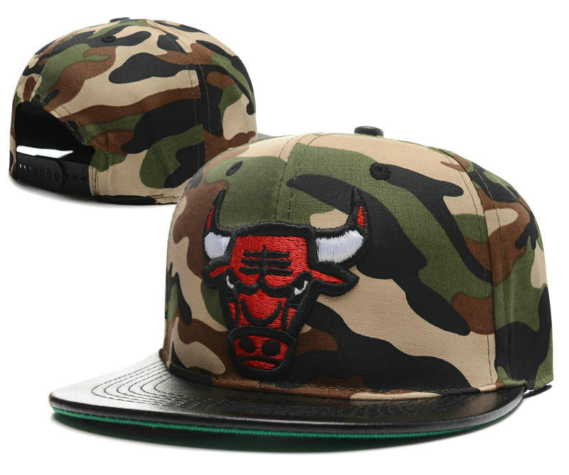 Chicago Bulls Camo Snapback Hat SD 0512